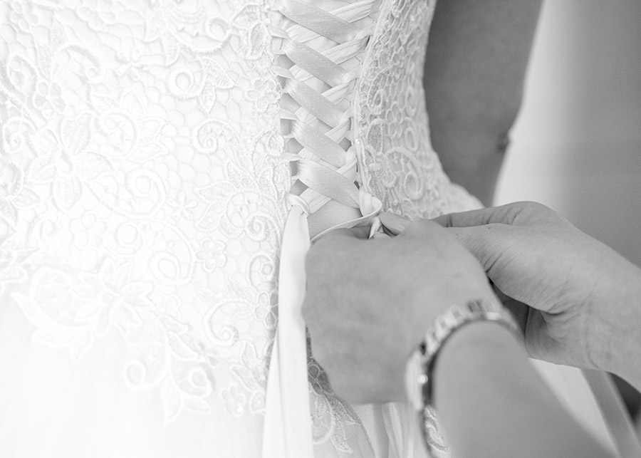 Bride dresses up