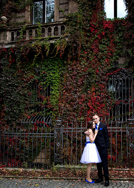Autumn wedding photo session The Moszna Castle