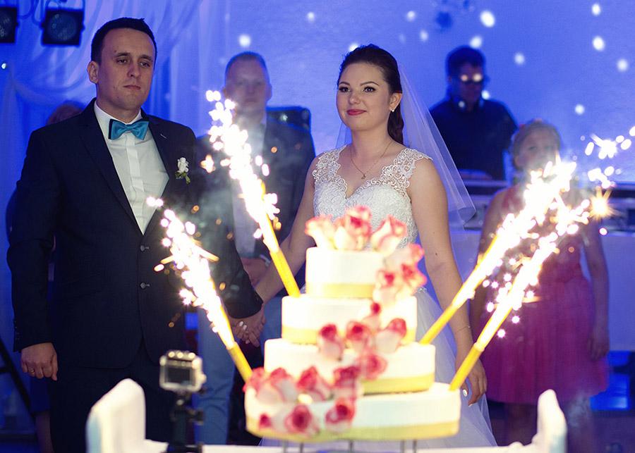 Angelika and Łukasz's wedding cake Dworek Sołtykowski