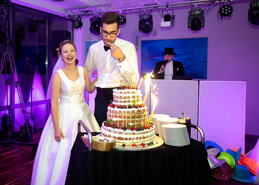 Karolina and Marek's wedding cake