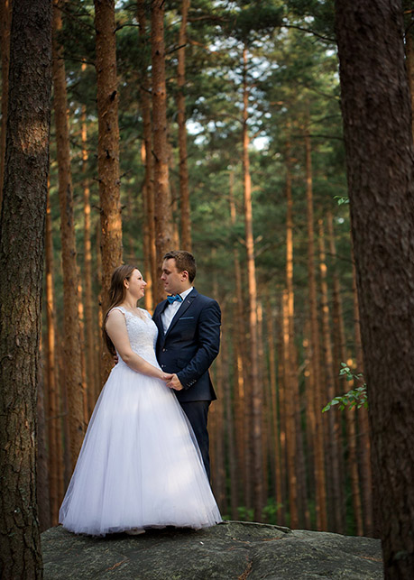 Angelika and Łukasz's outdoor wedding session