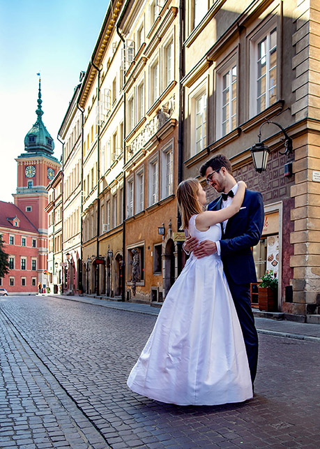 Karolina and Marek's wedding session Old Town, Warsaw