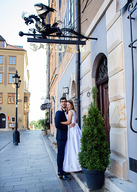 Wedding session Old Town, Warsaw